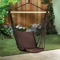 Espresso Padded Swing Chair