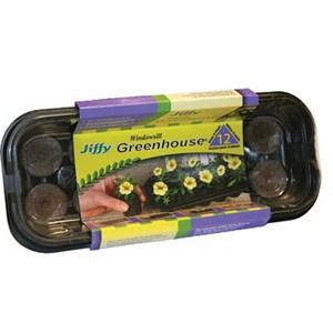 JIFFY 12 CELL WINDOWSILL GREENHOUSE